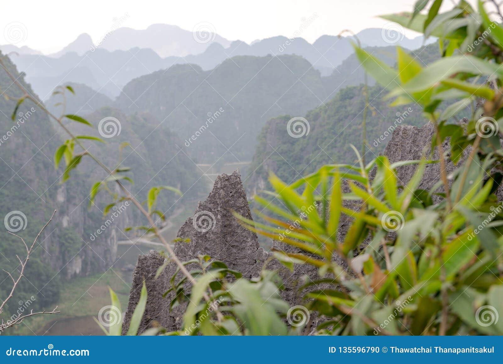 Província de Hang Mua Temple Ninh Binh, Ha Noi Vietnam Dec 2018