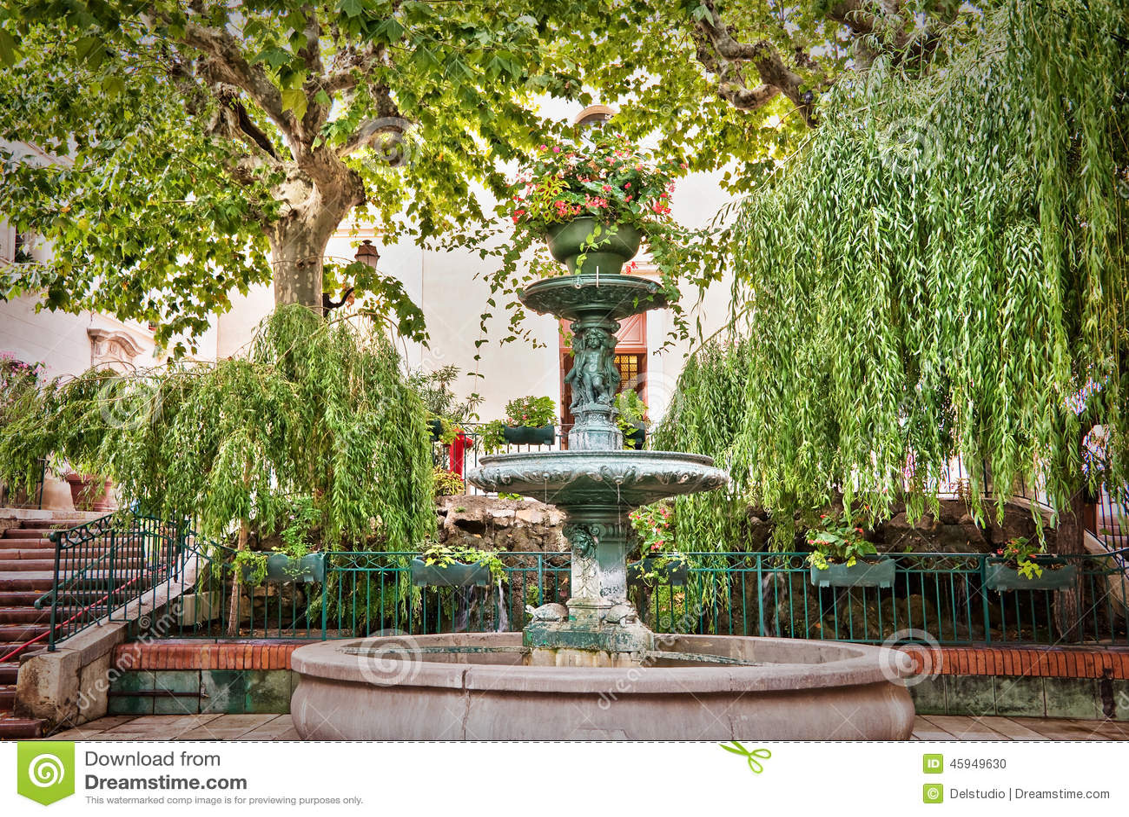 Provencal springbrunn, Bandol Frankrike