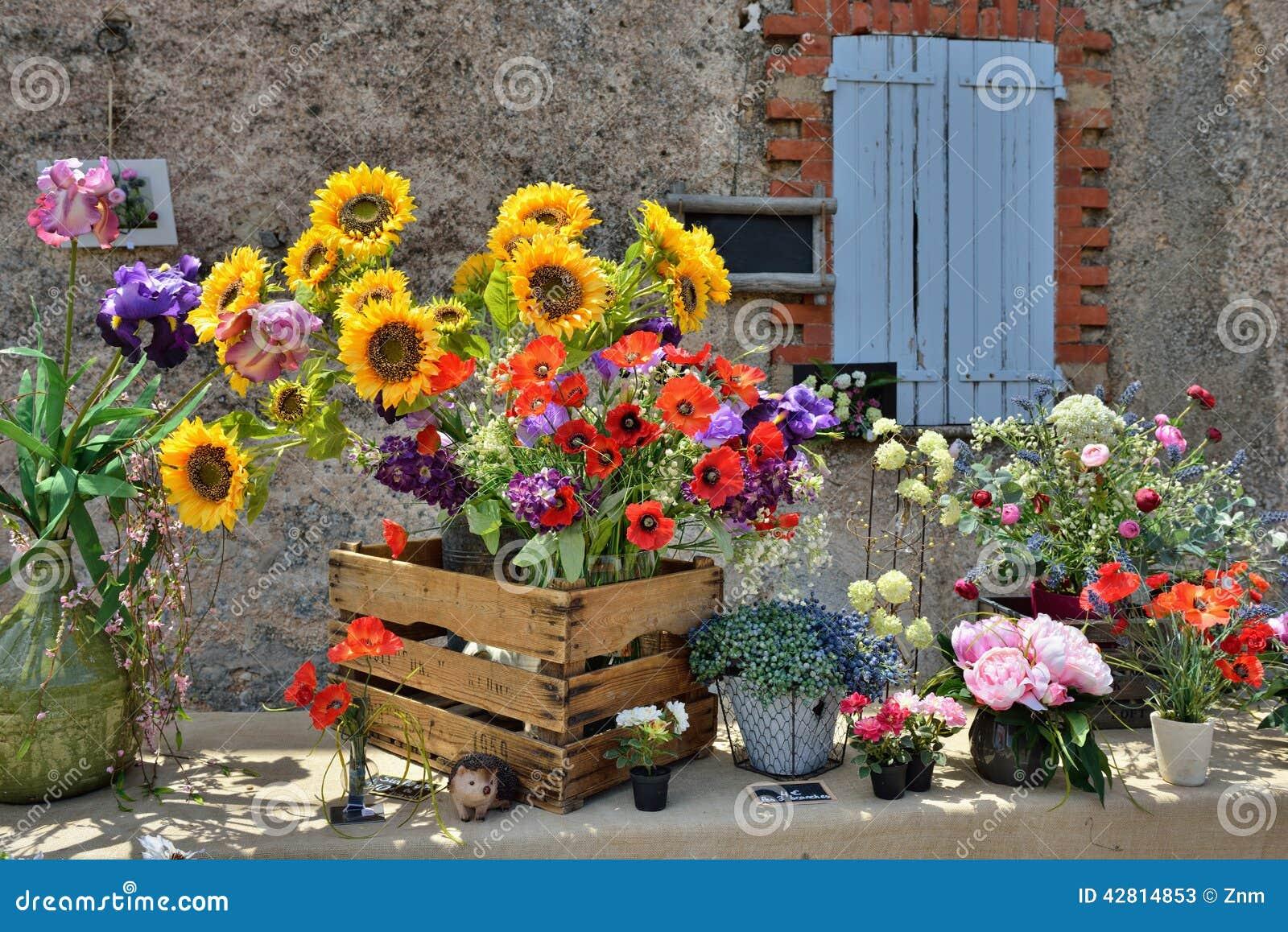 Provence France Stock Image Image Of Poppy Sunflower 42814853