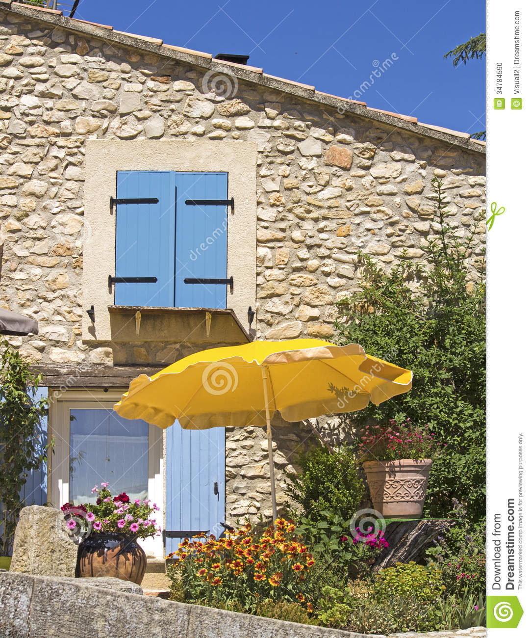 Provence house in the sun stock photo image of home for Provence home