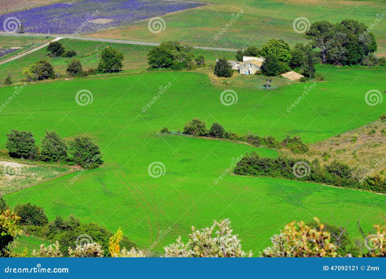 Provence lantligt landskap