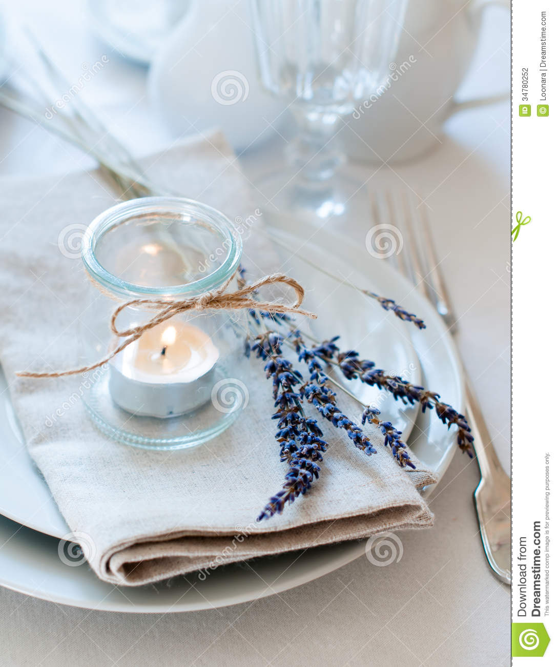 Provence Style Table Setting Stock Photography Image