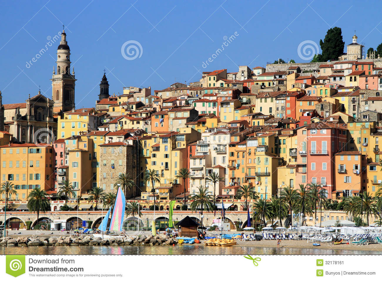 Provence Village Of Menton On The French Riviera In The