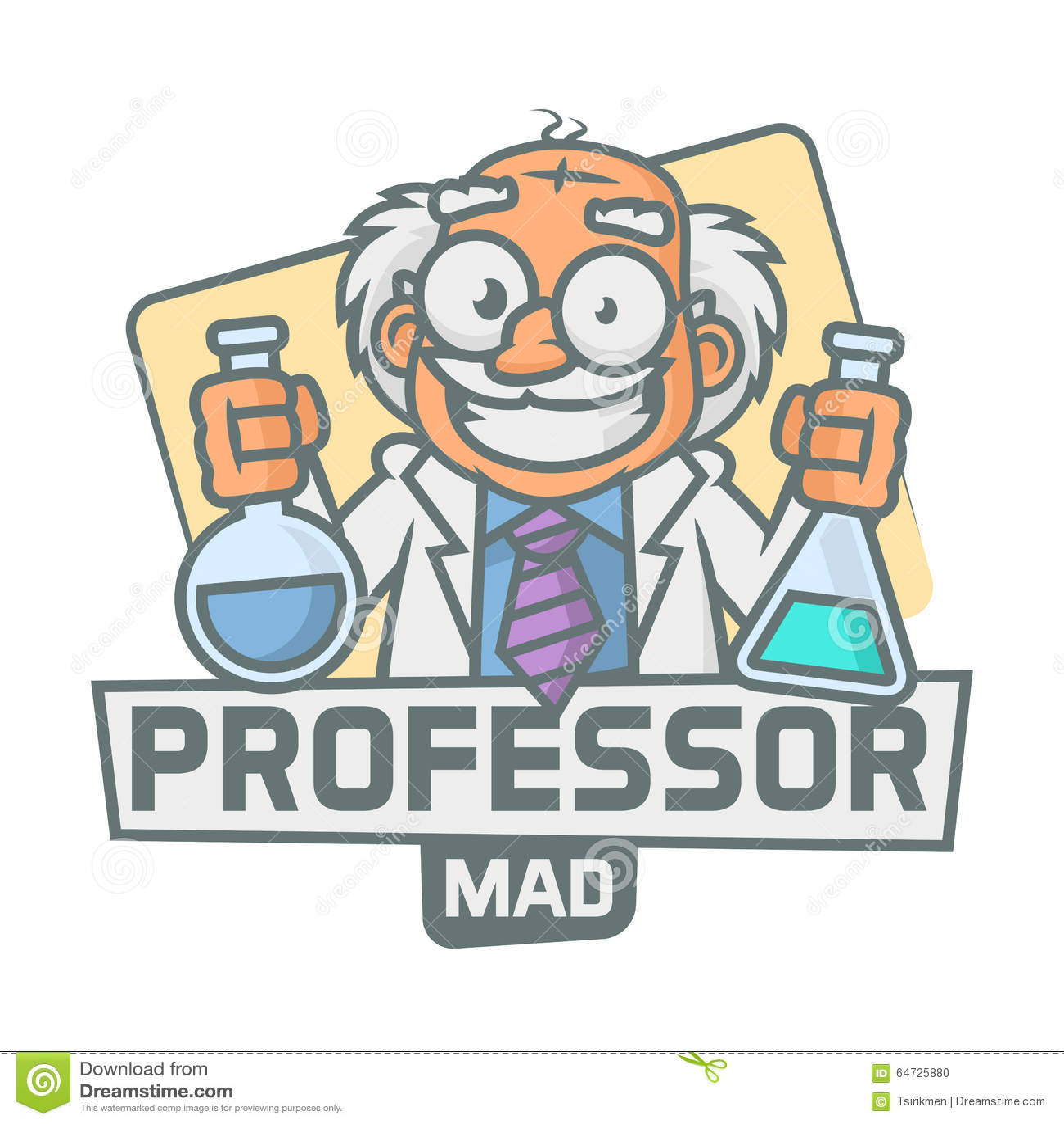Provette della tenuta dell emblema di professore