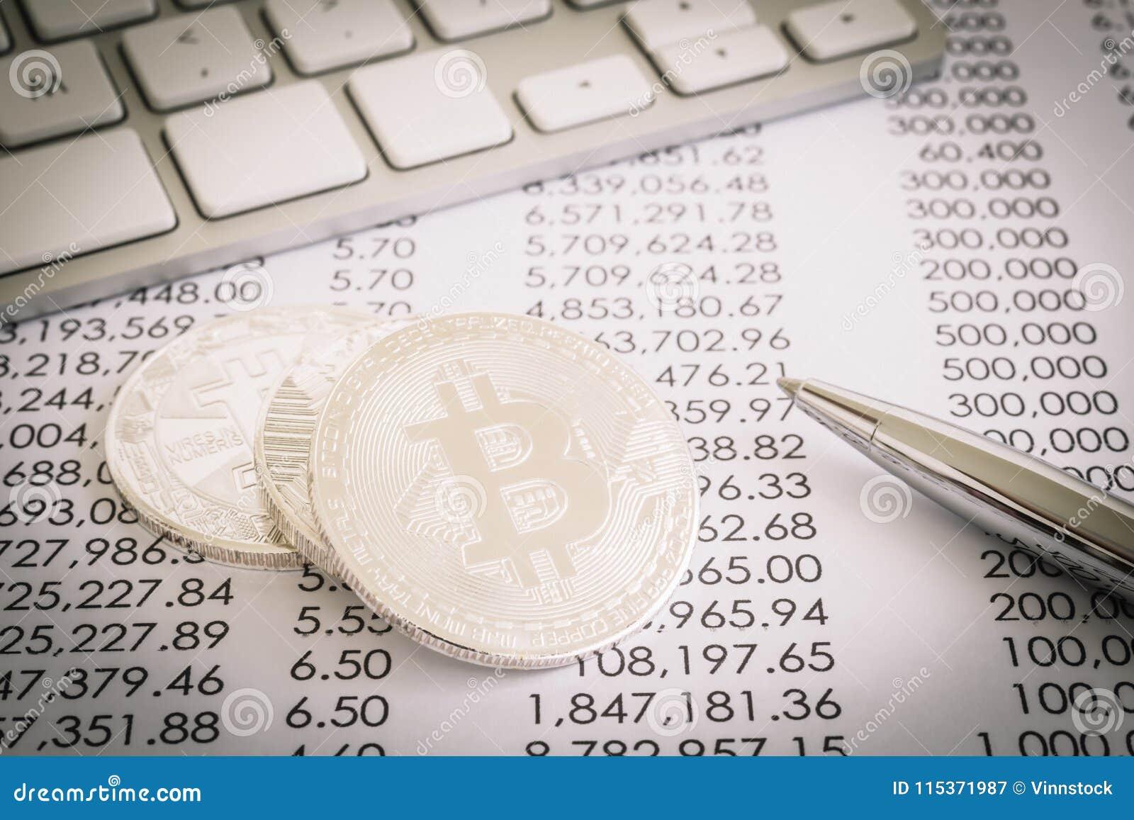 Provexemplar av arbete i Bitcoin, decentraliserad nätverkstransaktion