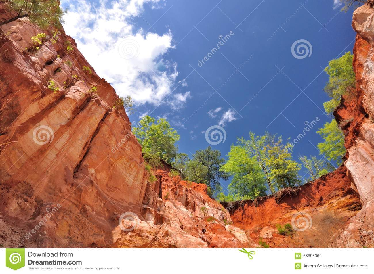 Download Providence Canyon stock photo. Image of outdoor, orange - 66896360