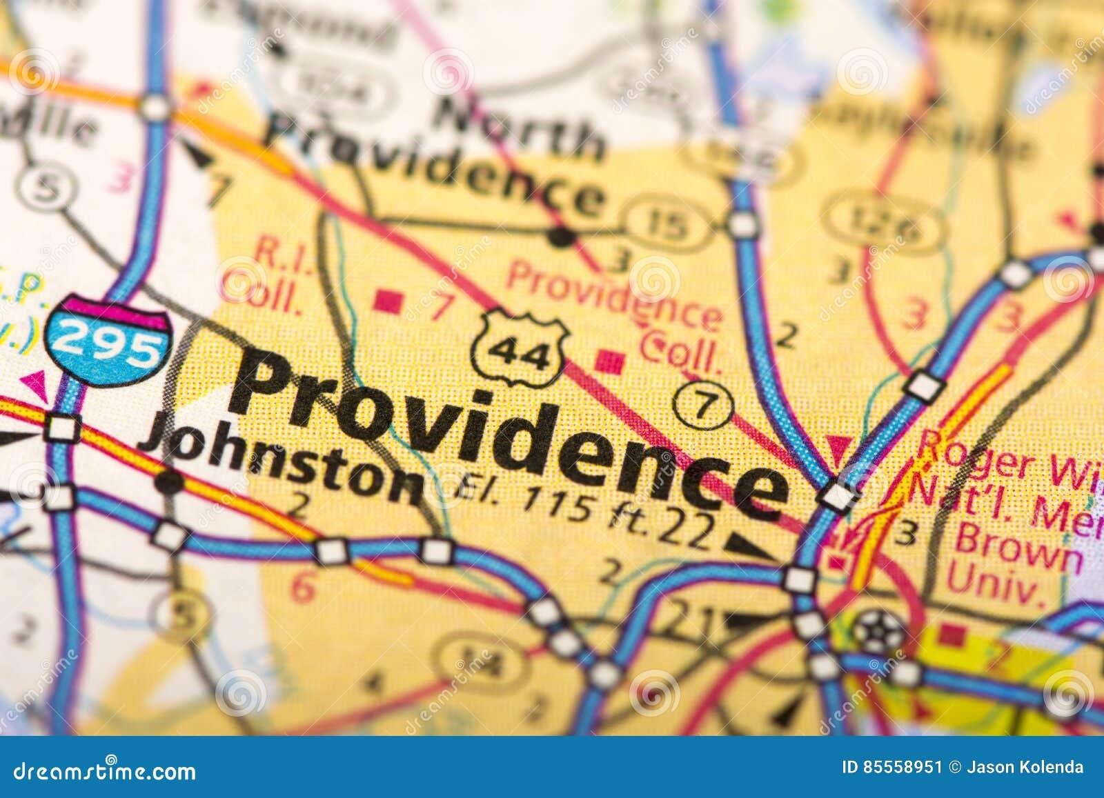 Providence, Rhode Island auf Karte