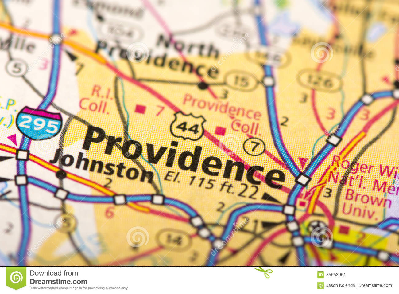 Providence, Rhode Island On Map Stock Image - Image of city, tourism ...
