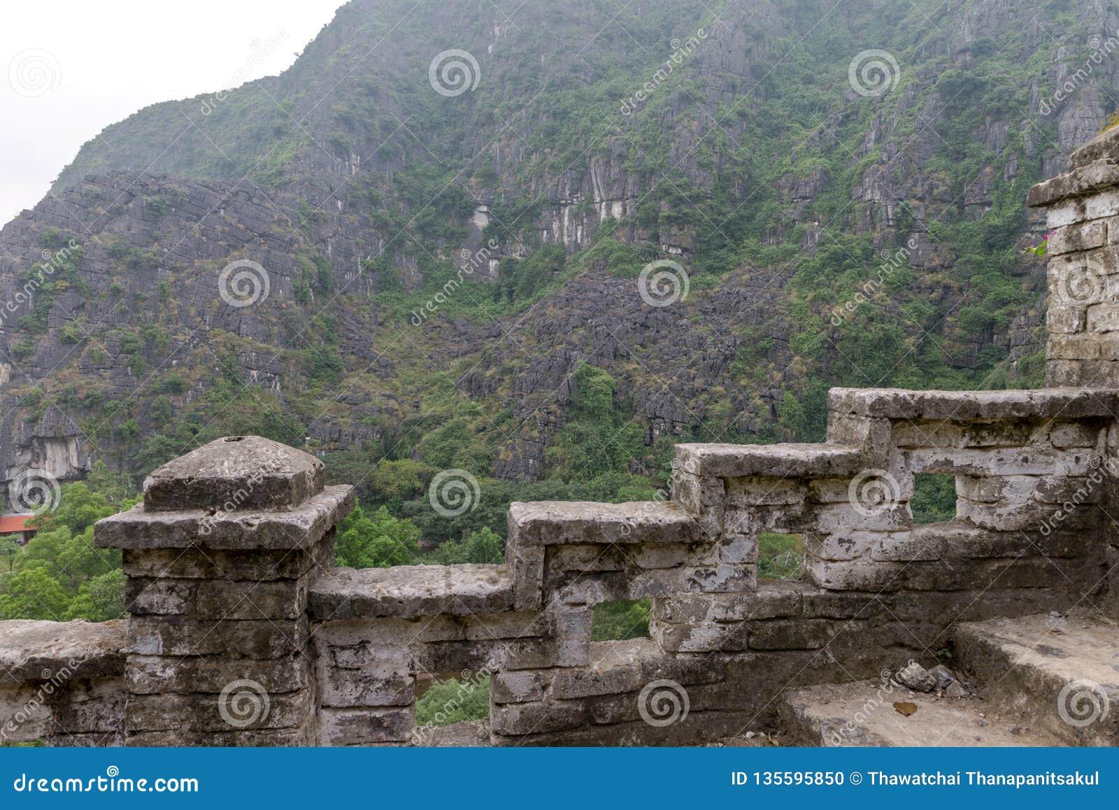 Provincia de Hang Mua Temple Ninh Binh, ha Noi Vietnam Dec 2018