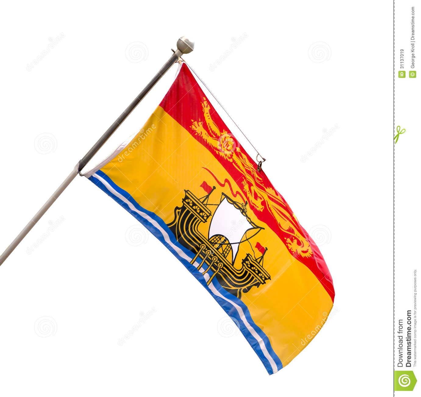 Provincial Flag Of New Brunswick, Canada Royalty Free