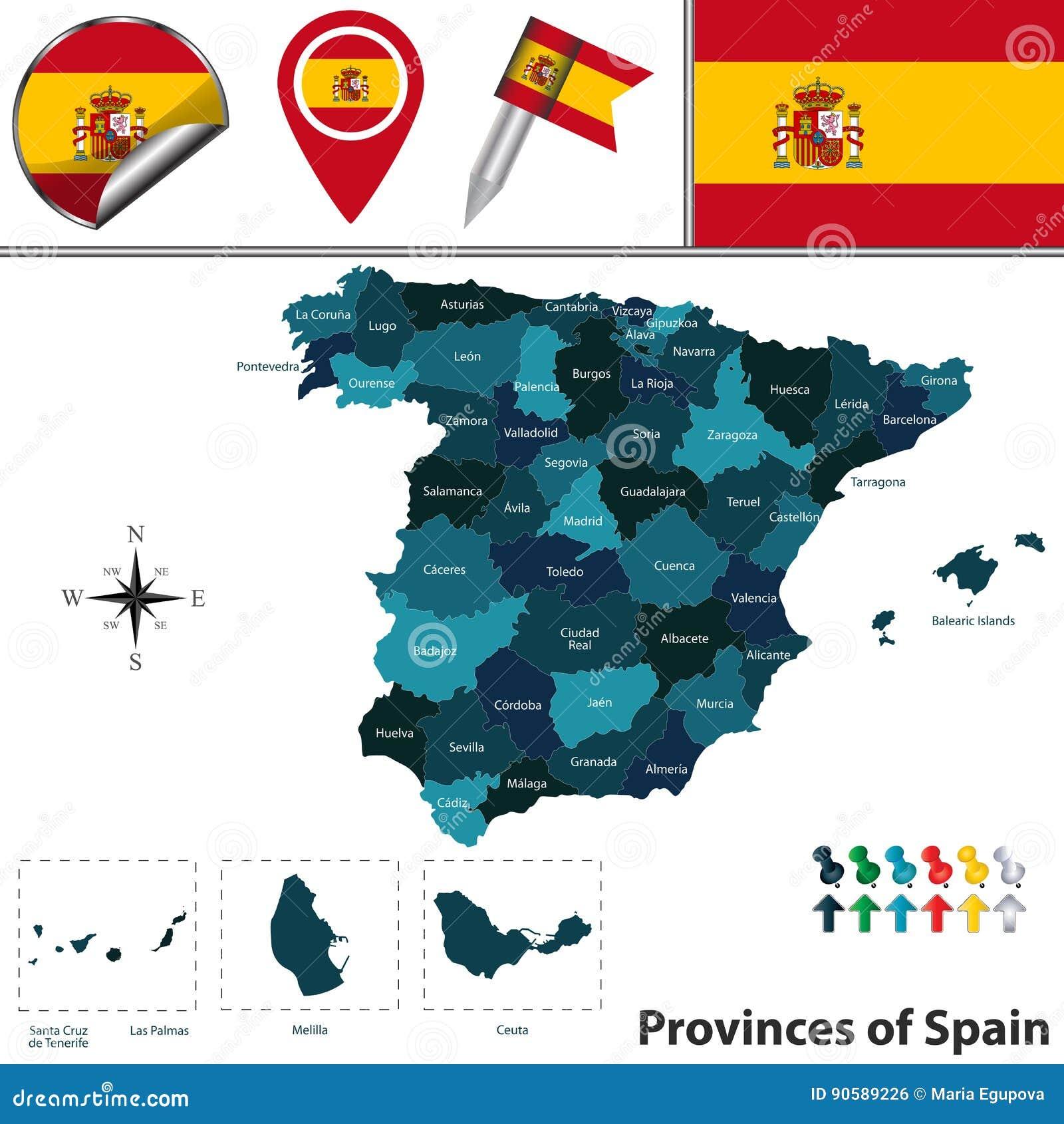 Provincias De Espana Ilustracion Del Vector Ilustracion De