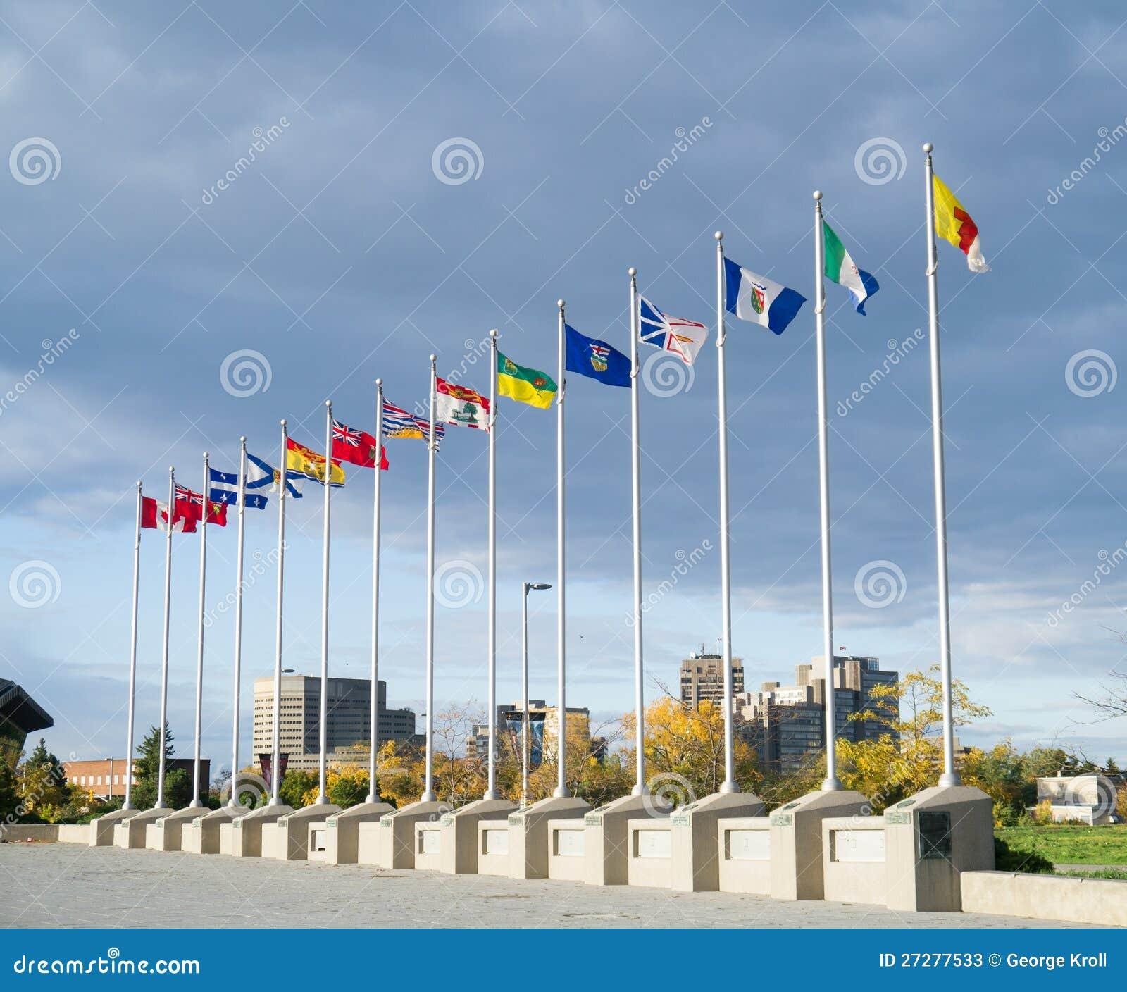 Provinsiella flaggor av landskap av Kanada