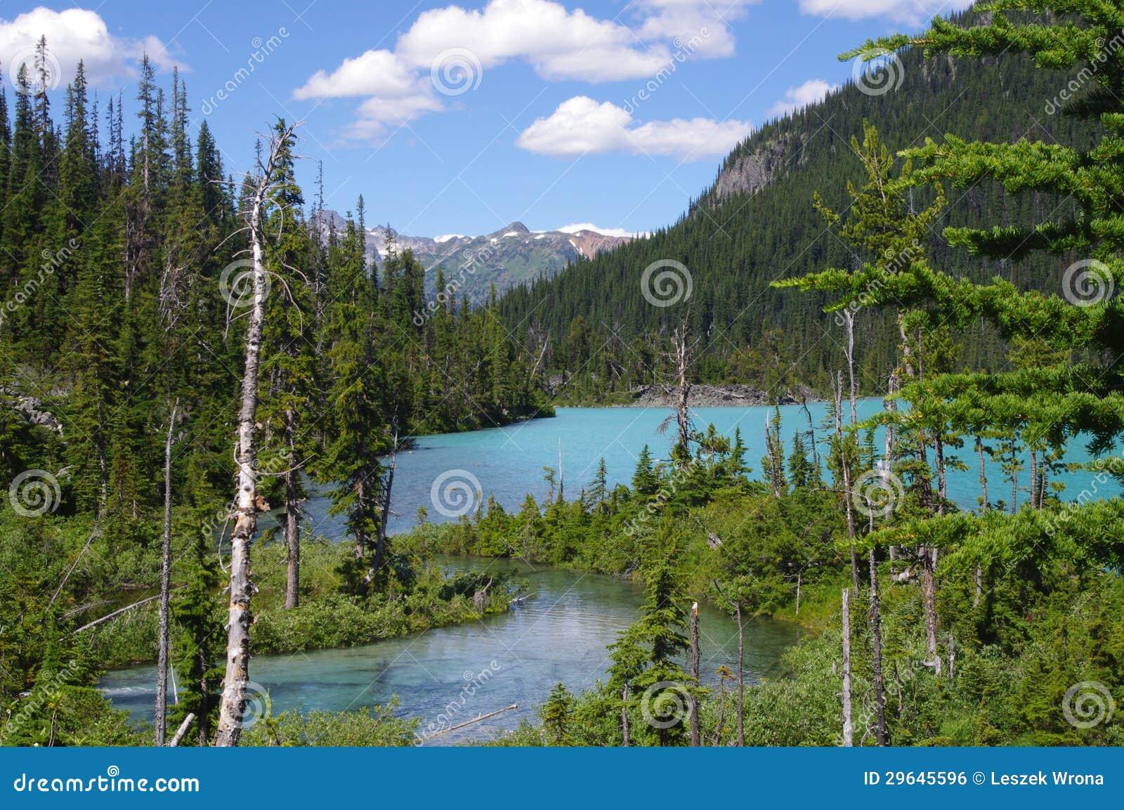 Provinsiella Joffre Lakes parkerar
