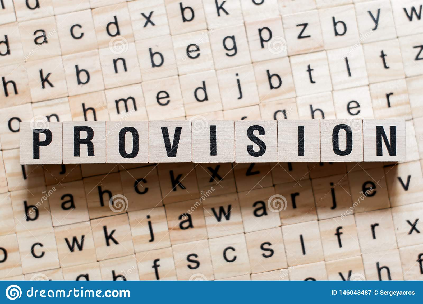 Provision word concept