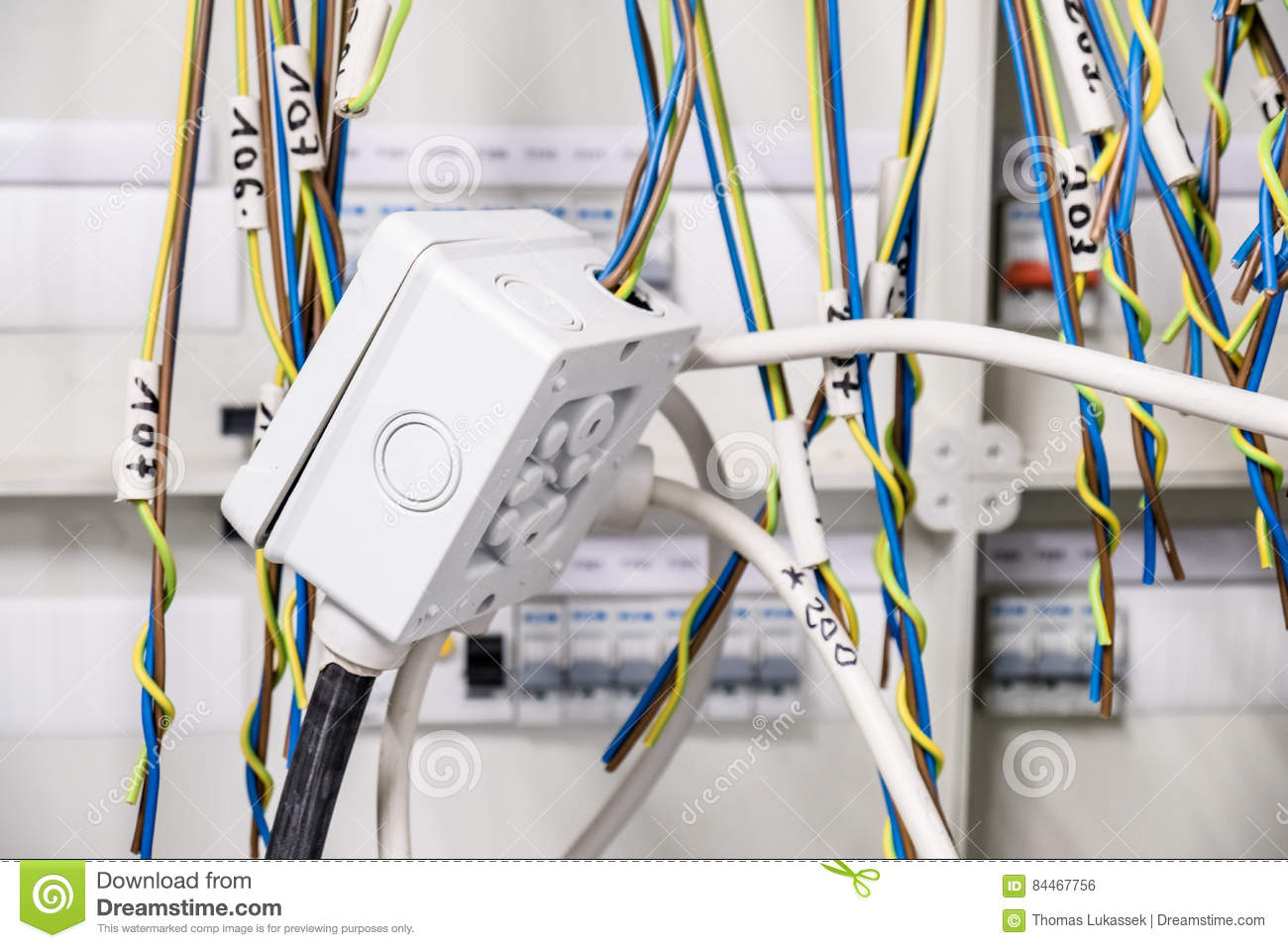 Provisional Electrical Arrangement In Panel Stock Photo - Image of ...
