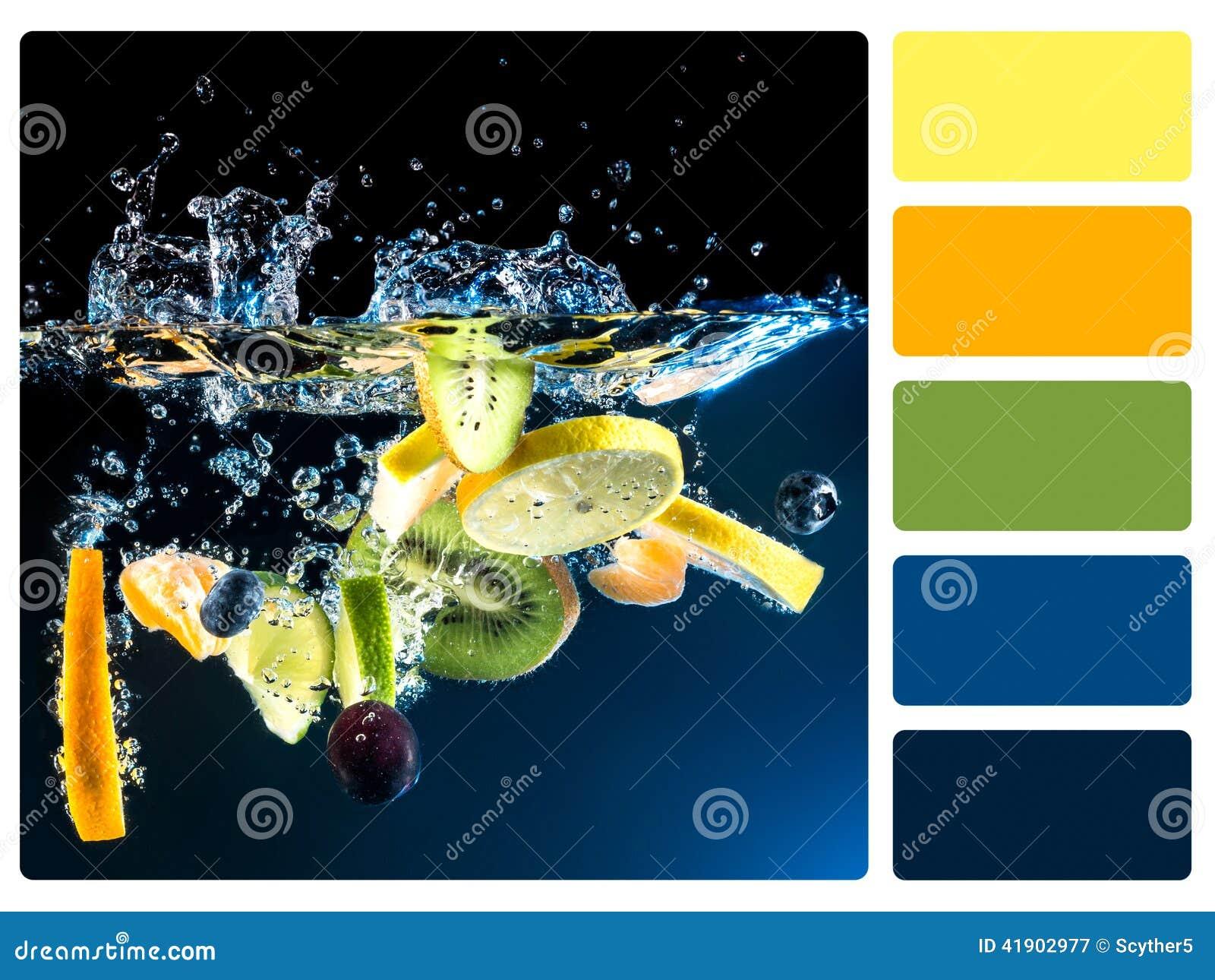Provkarta för färgpalett