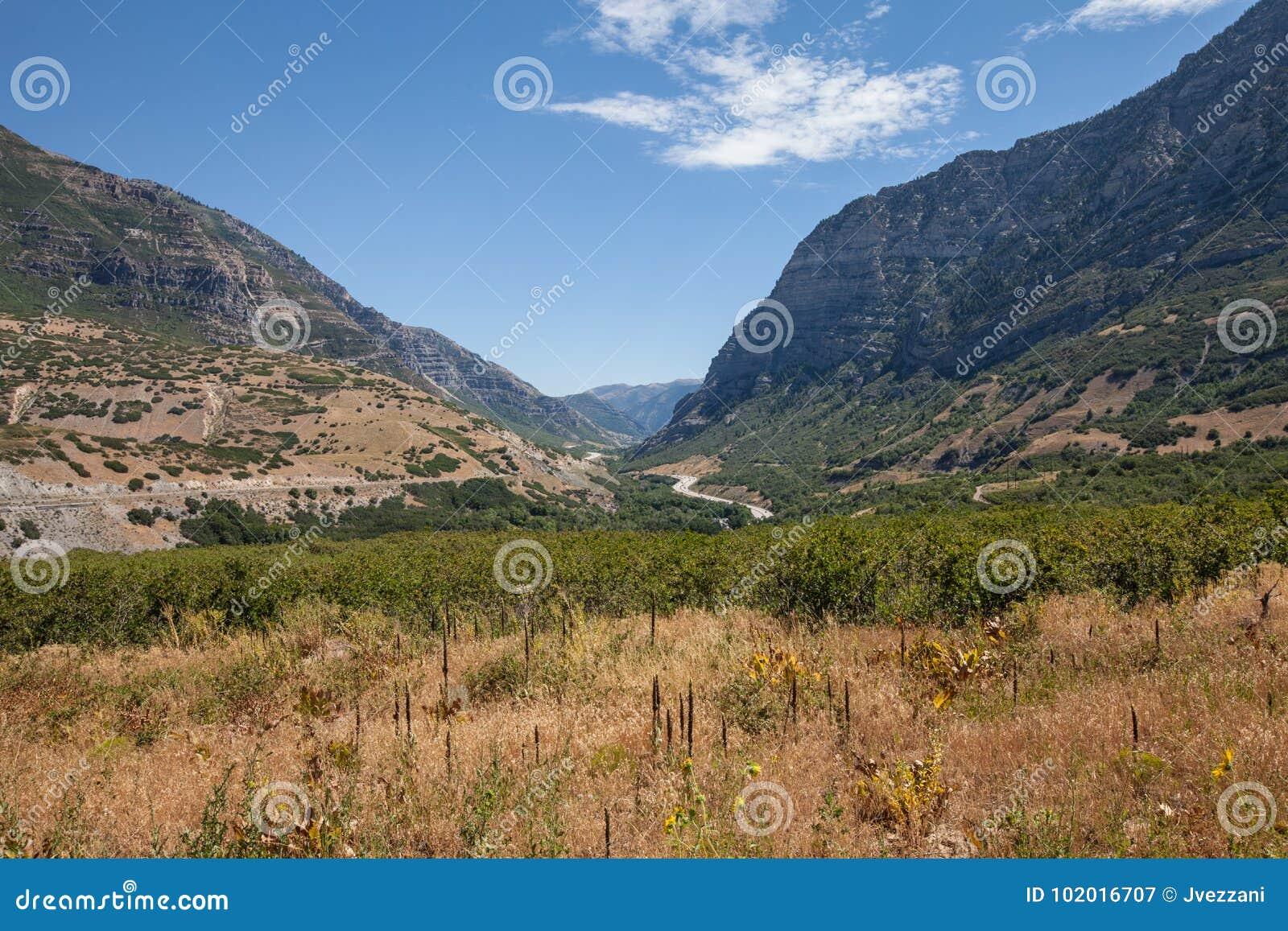 Provo Canyon horizontal shot