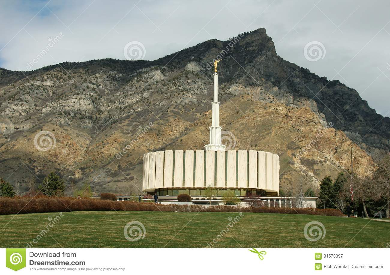 Provo Utah Mormon LDS Temple Early Spring Editorial