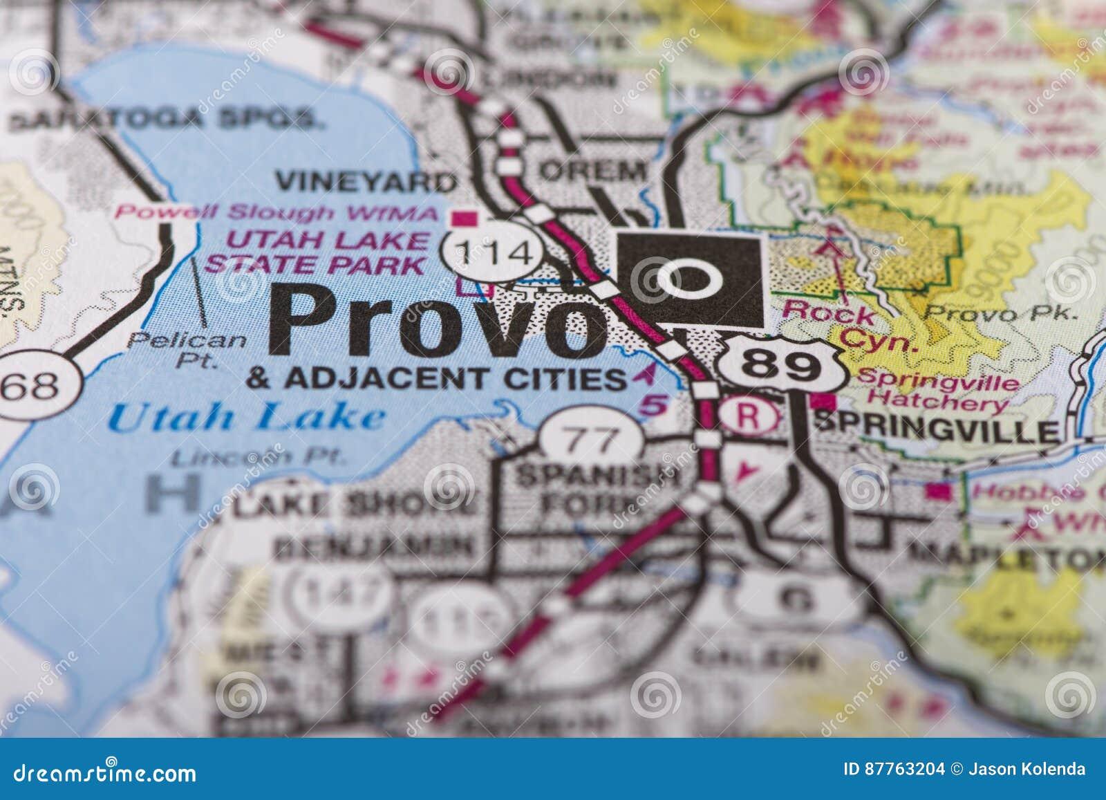 Provo, Utah na mapie