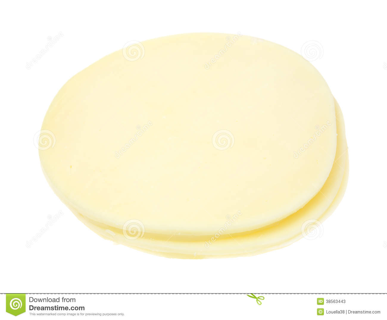 Provolone Slices On White Background Stock Photos - Image ...