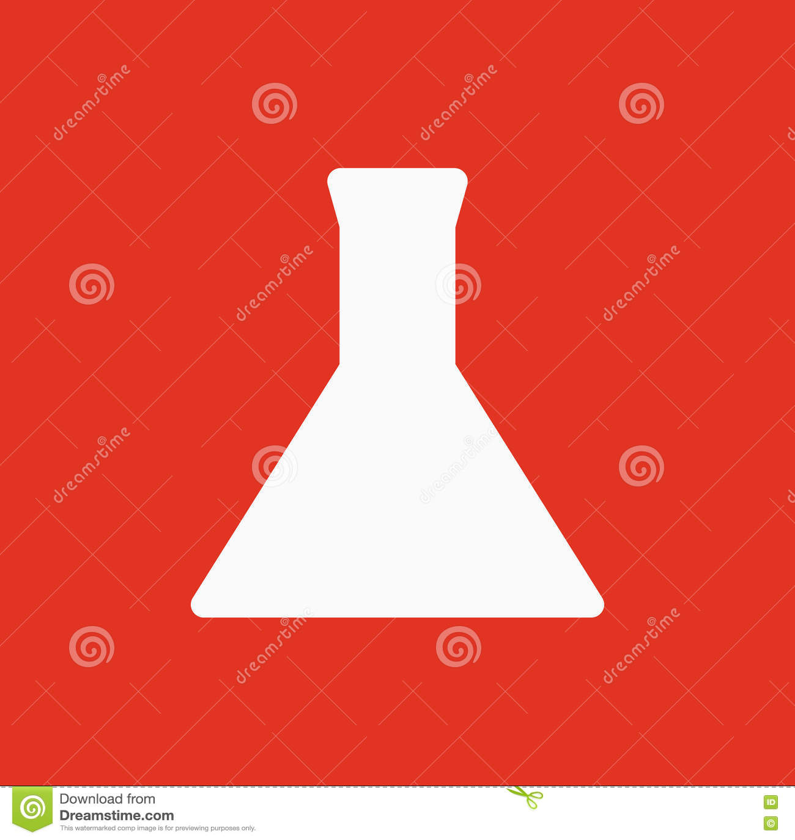 Provrörsymbolen Flaska och kemikalie, analys, kemi, laboratoriumsymbol plant