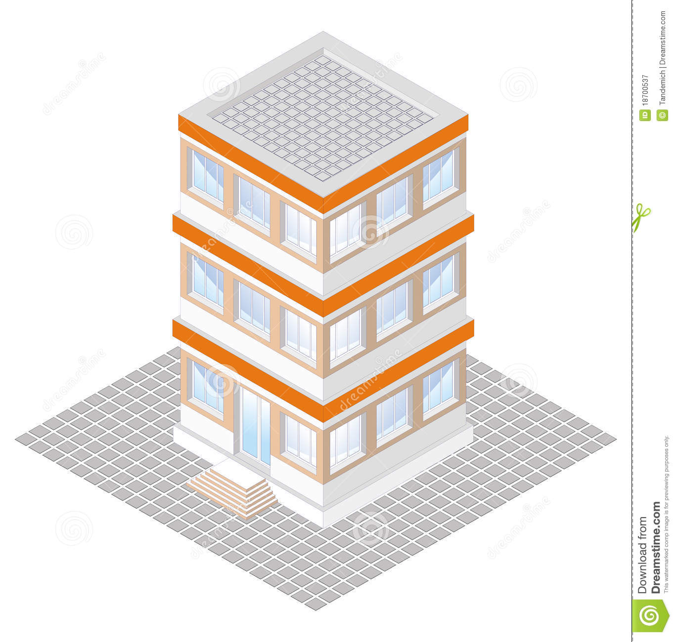 Storey Office Building Drawing