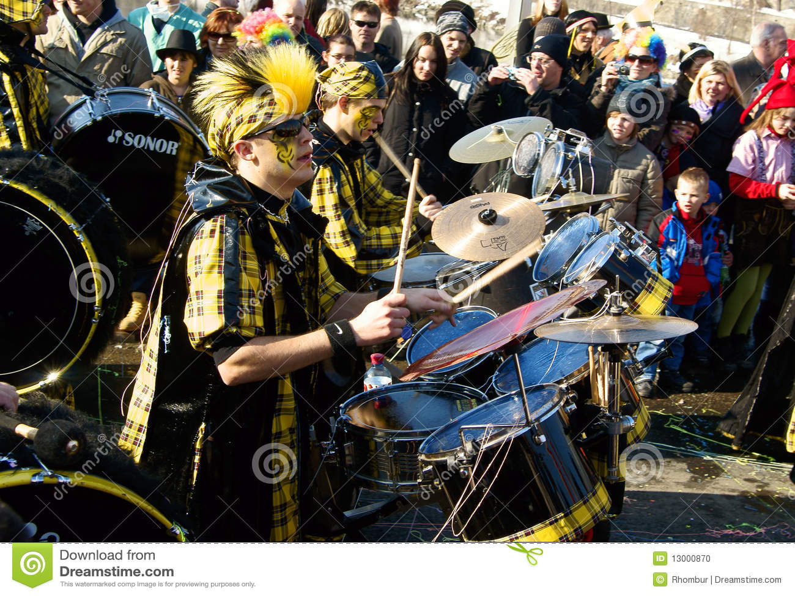 Prozession am Karneval in Villach/in Österreich
