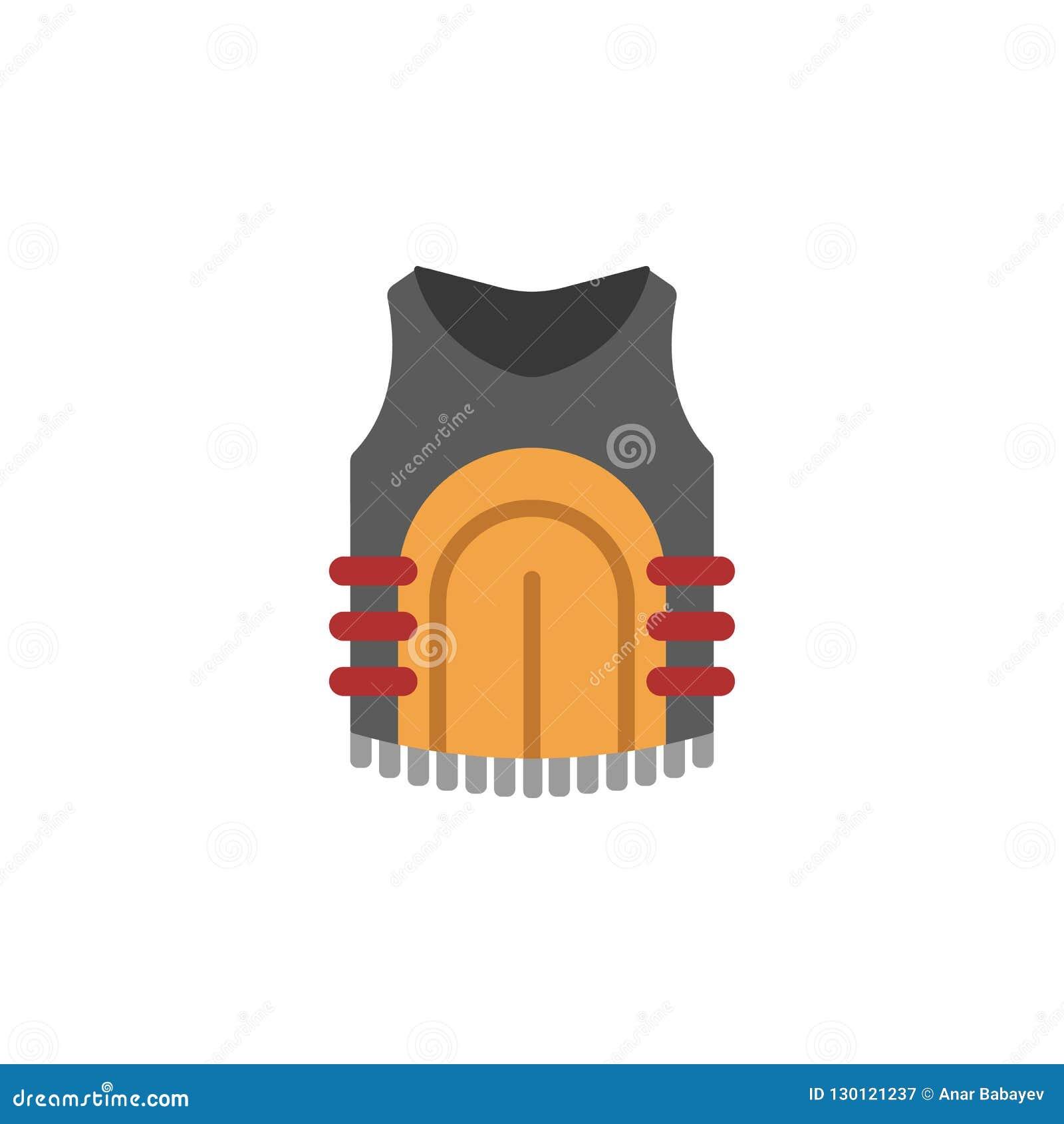 A prueba de balas, icono coloreado chaleco Elemento coloreado de la guerra, ejemplo de la armadura Icono superior del diseño gráf