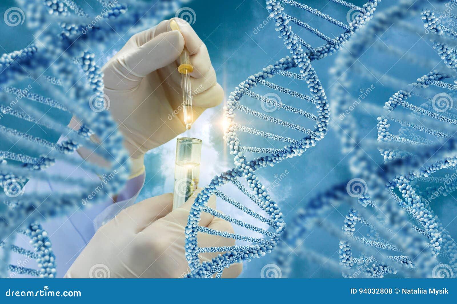 Prueba de las moléculas de la DNA