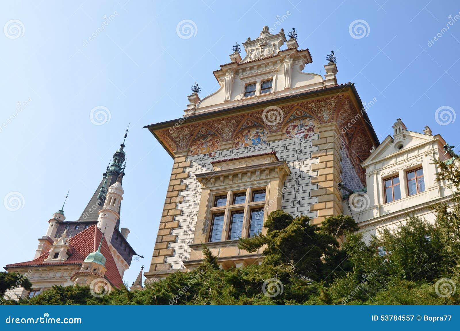 Pruhonice grodowa czeska republika