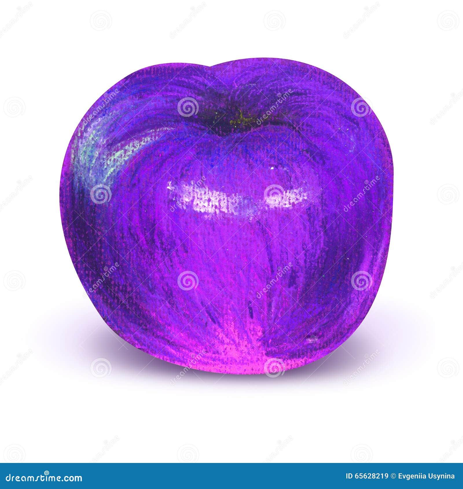 Prune violette peinte avec le chemin de travail