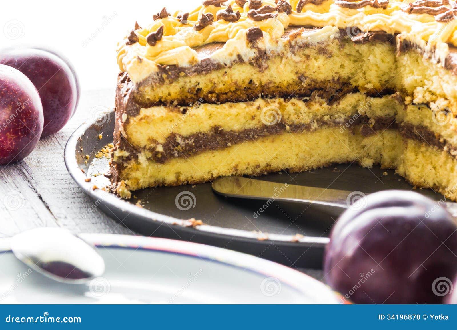 Gateau aux prunes blanches