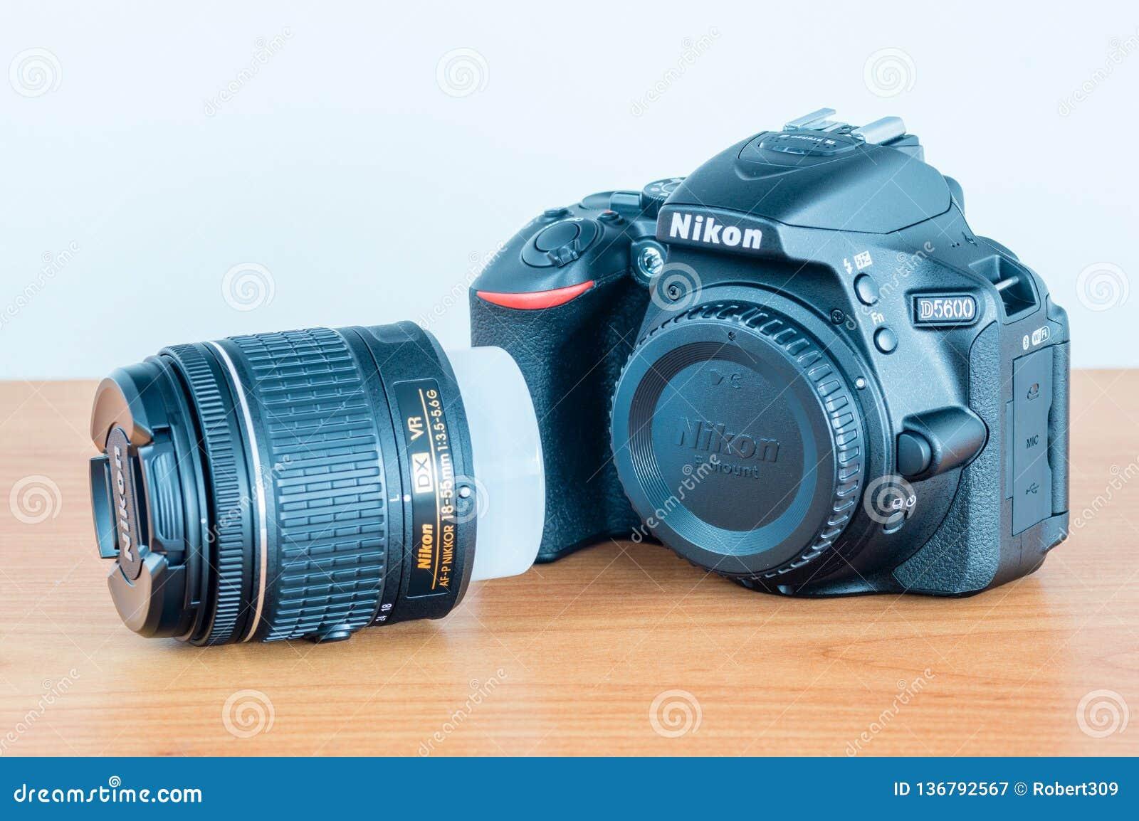Nikon D5600 DSLR Photo Camera And AF-P DX Nikkor 18-55mm F