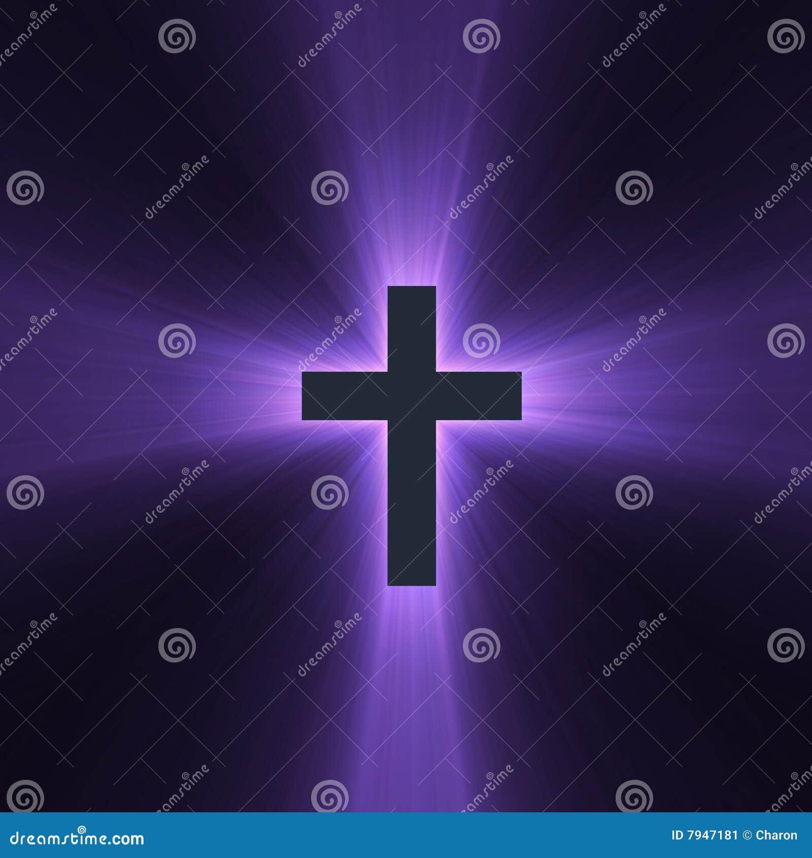 Przecinającego racy święty światło - purpura