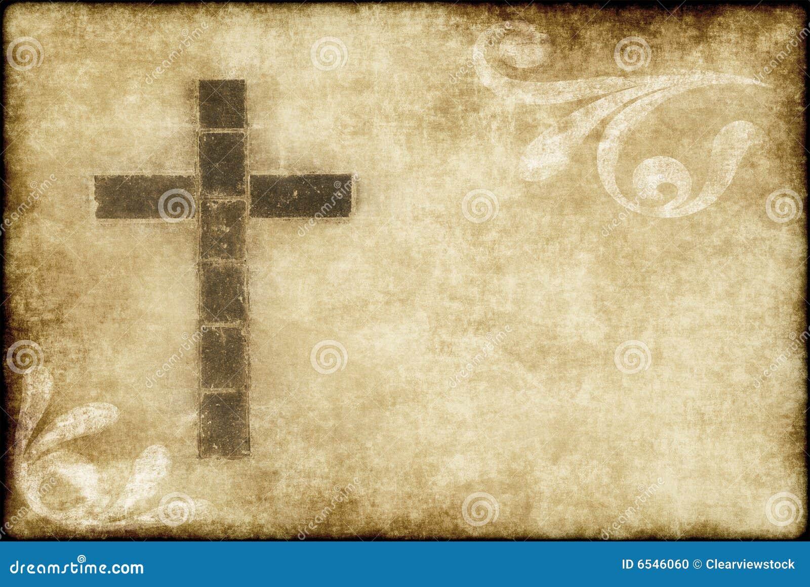 Przecinający chrześcijanina pergamin