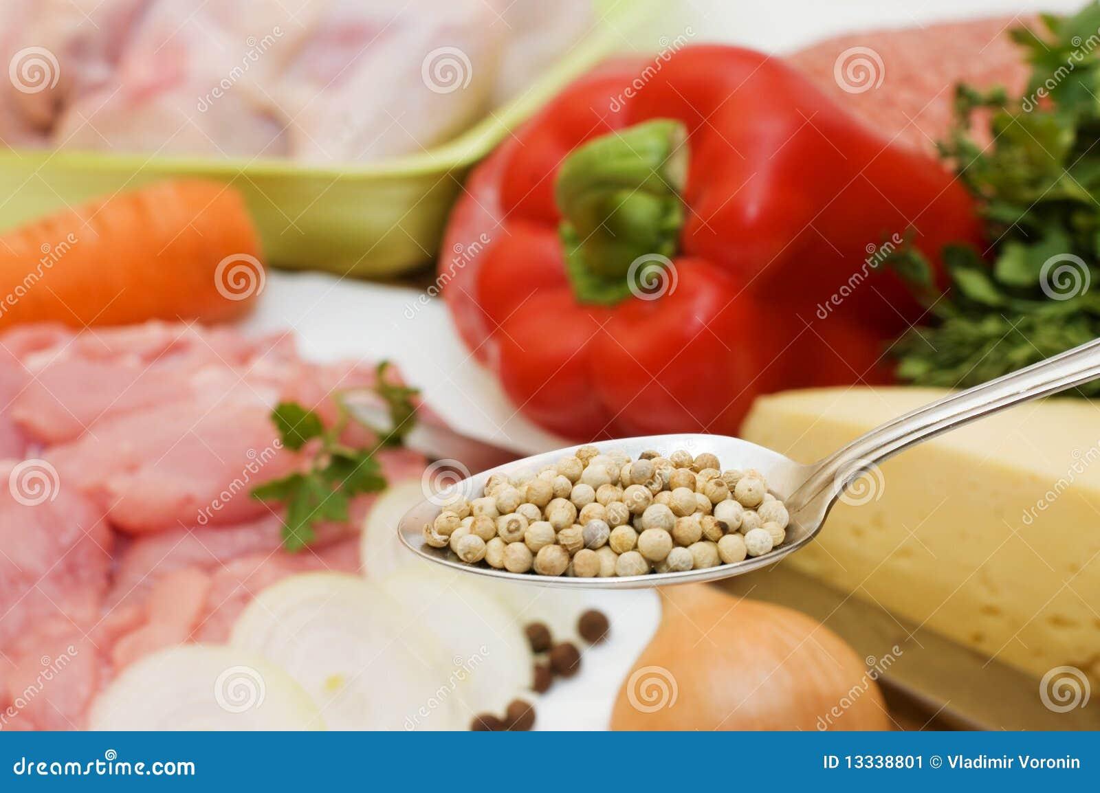 Przeciw łyżkowym pikantność warzywom