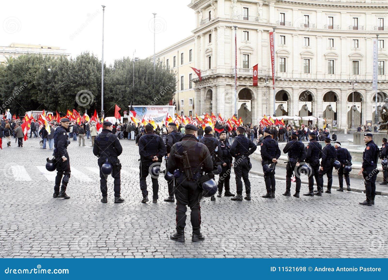 Przeciw rzędowi protestuje Rome