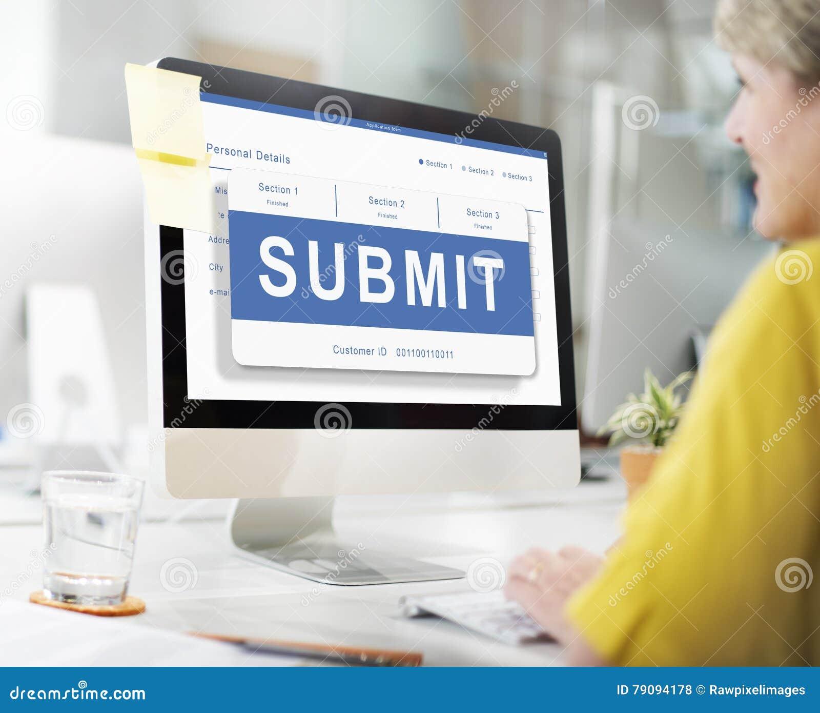 Przedkłada Podaniowego członkostwo rejestr Wysyła pojęcie