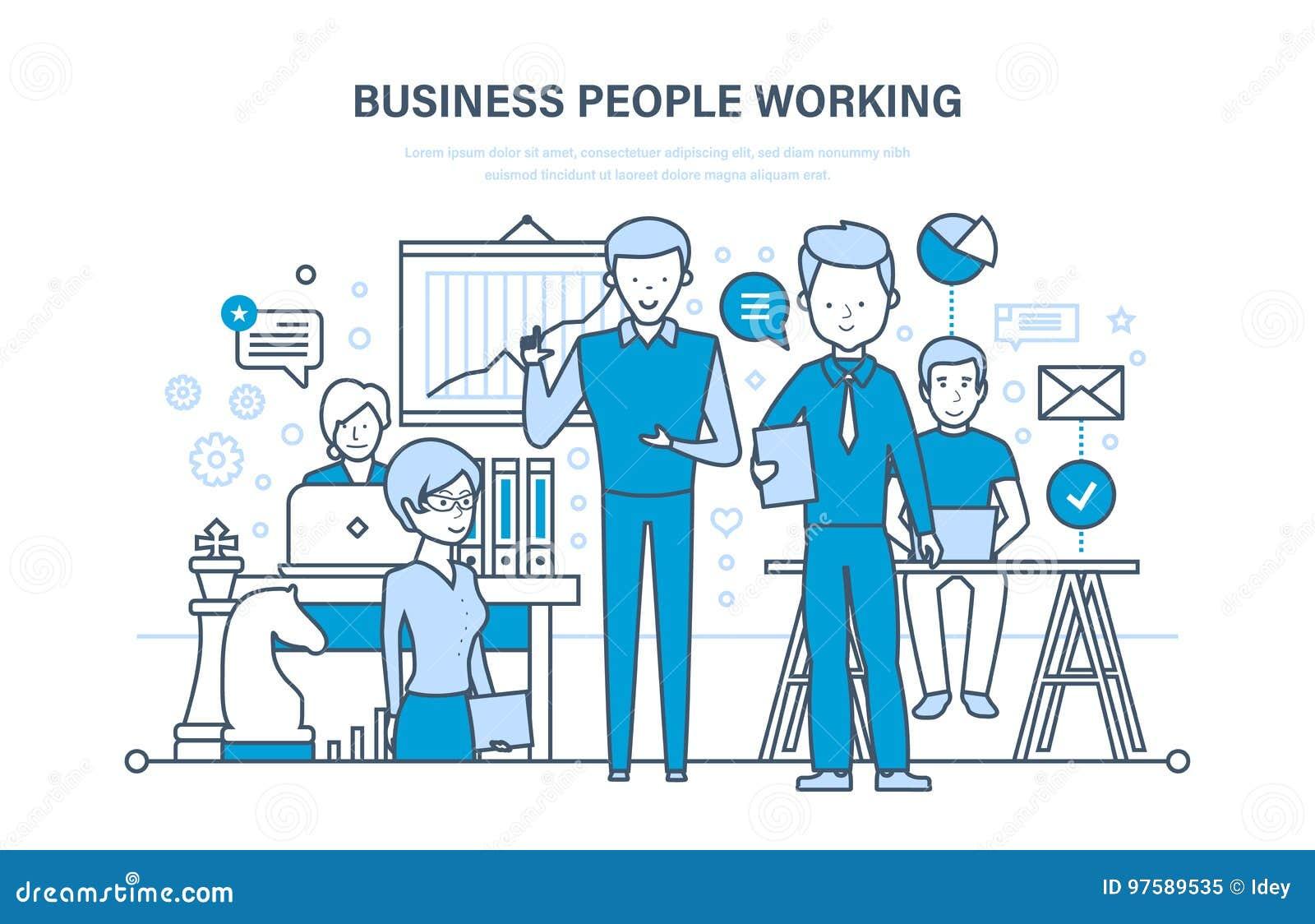 Przedsiębiorcy do pracy Grupa robocza, koledzy, partnery, praca zespołowa i współpraca,