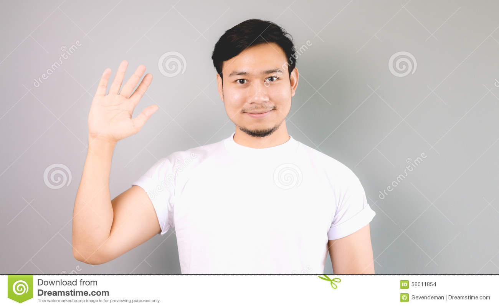 Przedstawienie ręki znak i walkower cześć - walkower
