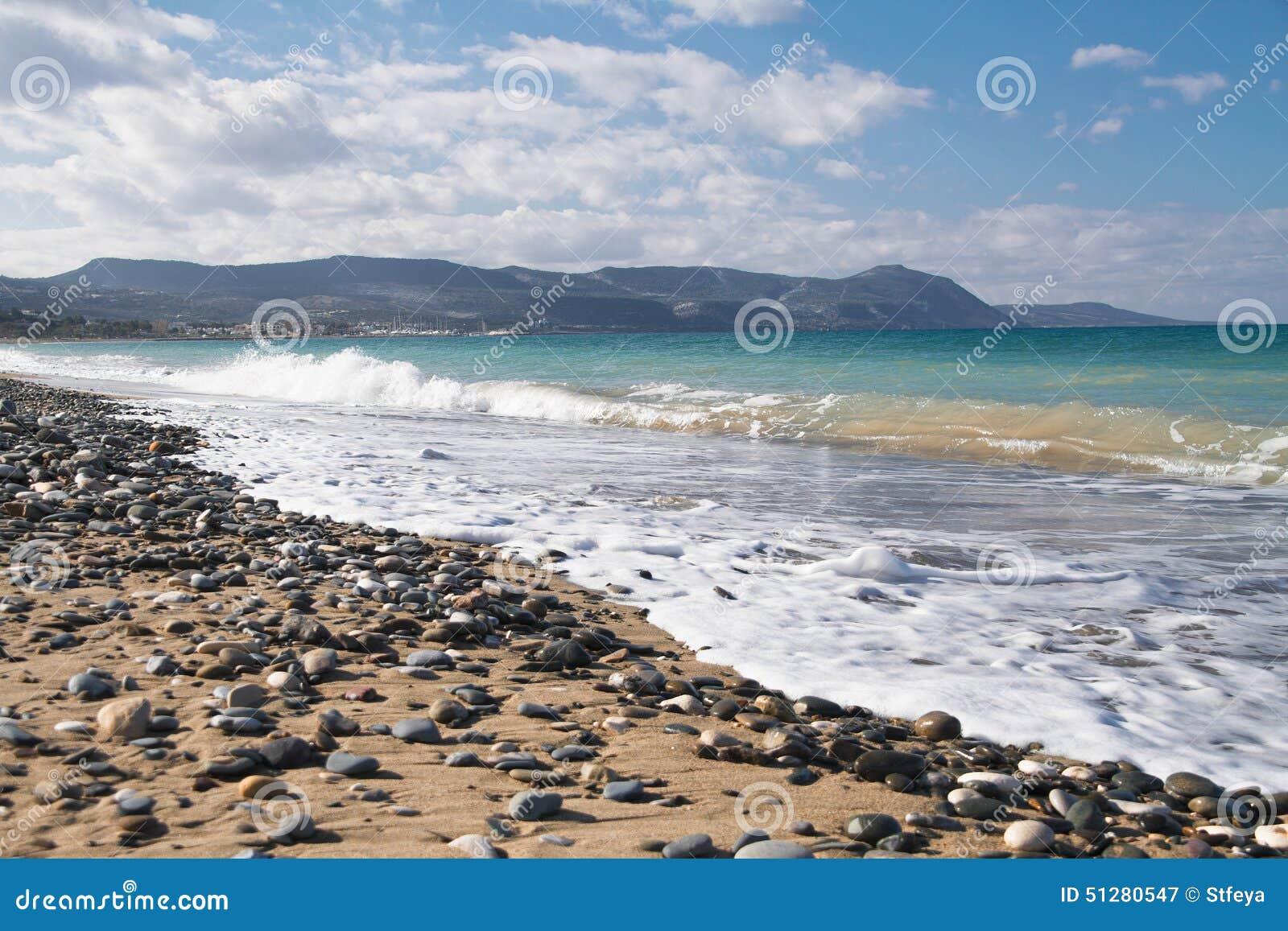 Przegląd od Polisa plaży