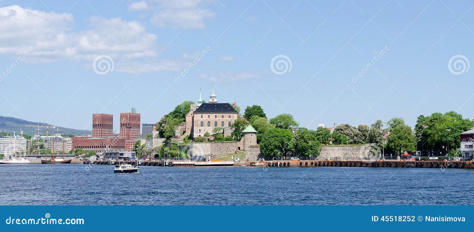 Przeglądać na Oslo Fjord schronieniu i Akershus Fortecy