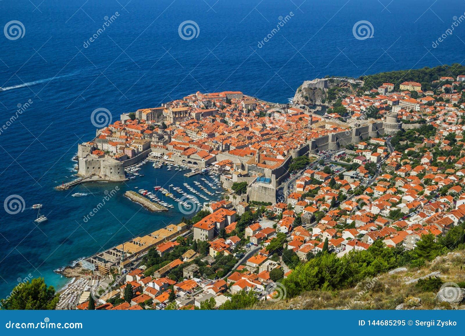 Przegl?d stary miasteczko Dubrovnik, Chorwacja