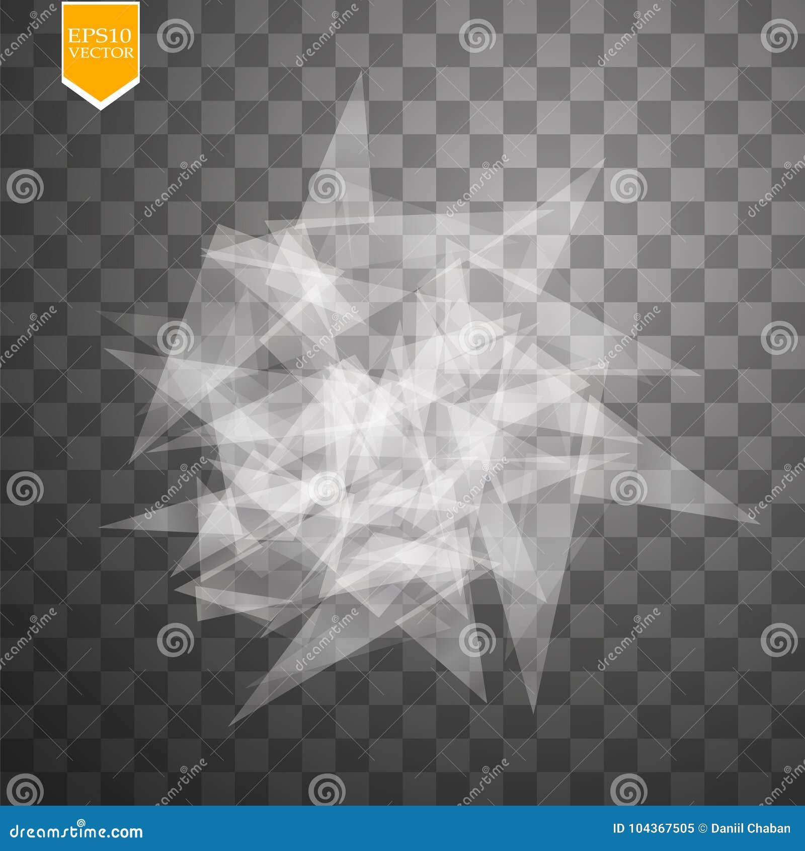 Przejrzysty łamający szkło na przejrzystym tle również zwrócić corel ilustracji wektora