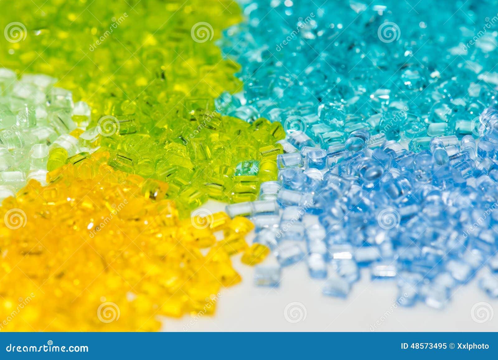 Przejrzysty farbujący klingeryt granuluje