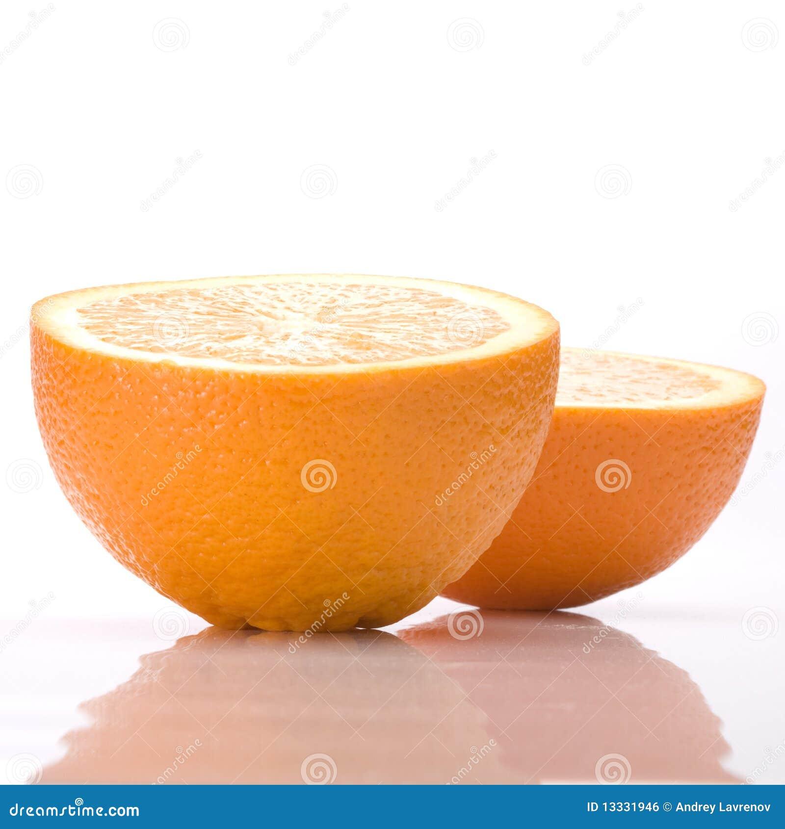 Przekrawa pomarańcze dwa