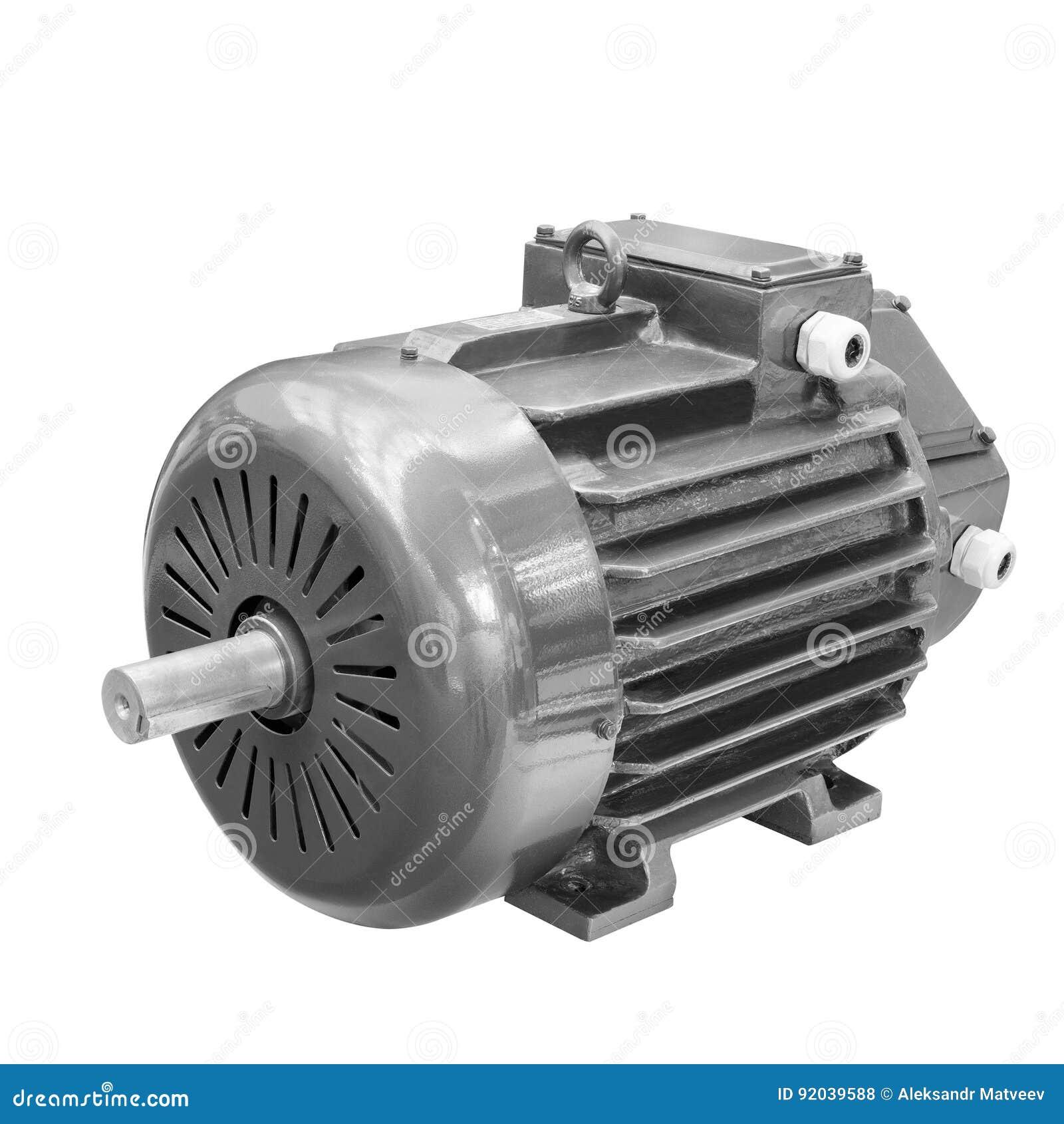 Przemysłowy elektryczny silnik odizolowywający na białym tle