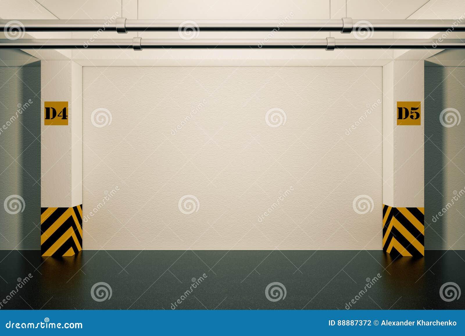 Przemysłowy Wewnętrzny pojęcie Pusty podziemny garaż 3