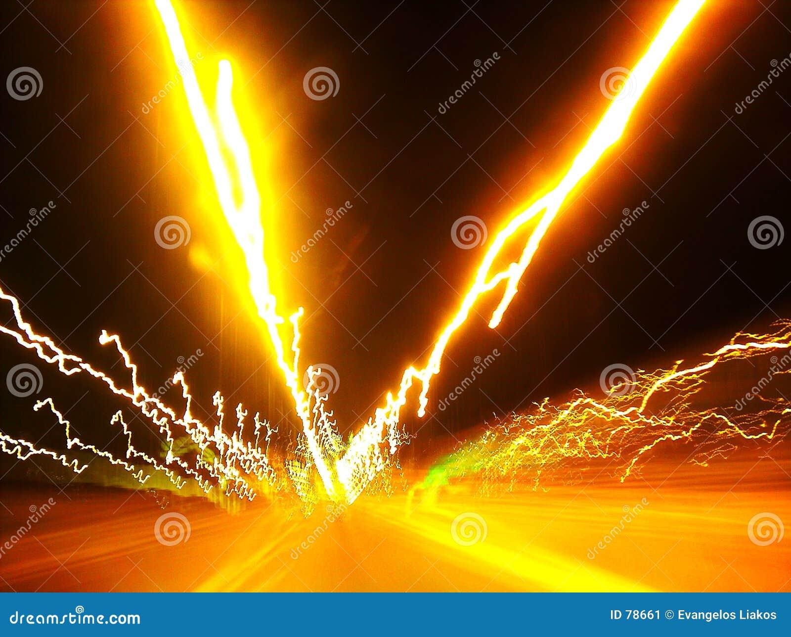 Przepływ światła drogę