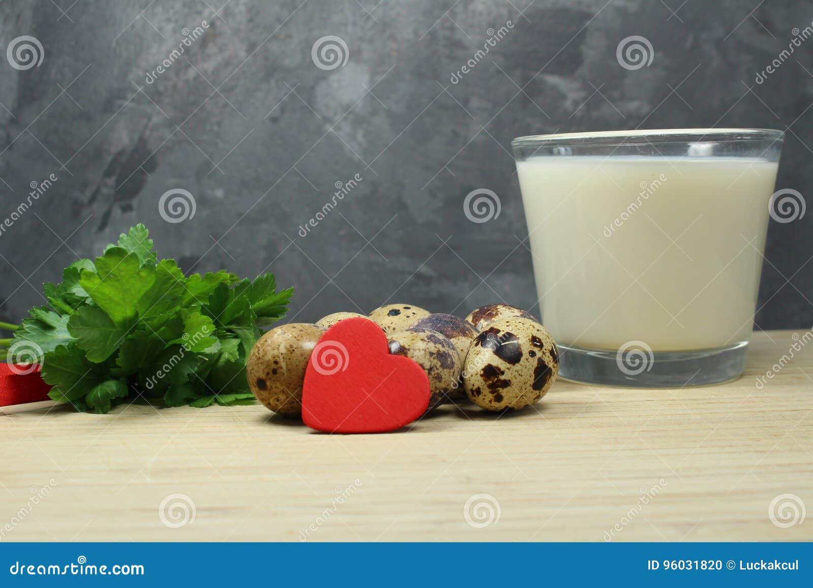Przepiórek jajka z mlekiem i pietruszką omega 3 i omega 6 -